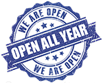 open all year logo